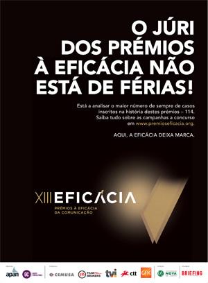 13ª edição dos Prémios à Eficácia da Comunicação